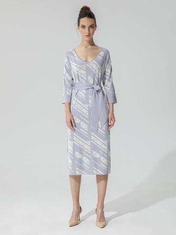 Женское платье светло-серого цвета из шелка и вискозы - фото 2