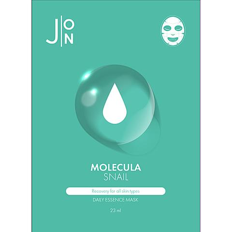 J:on Маска для лица тканевая с улиточным муцином - Molecula snail daily essence mask, 23мл