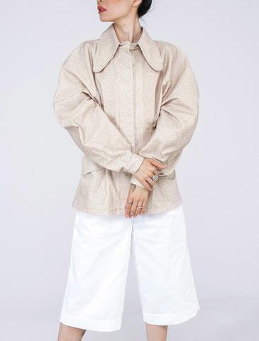 Куртка приталенная (принт 49-08) Adili