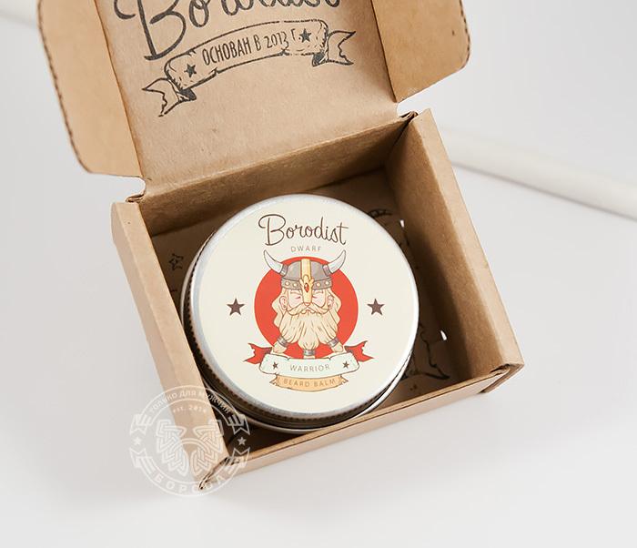 RAZ215 Бальзам для бороды «BORODIST WARRIOR» с пчелиным воском (30 гр) фото 02