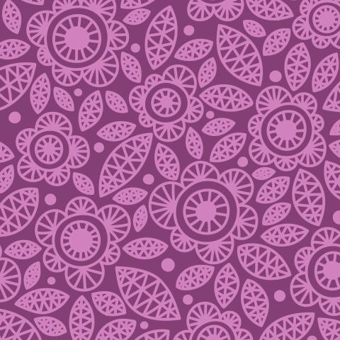 Розовые цветы на бордовом