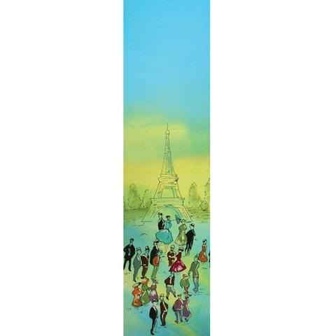 Шелковый шарф батик Парижане C-57