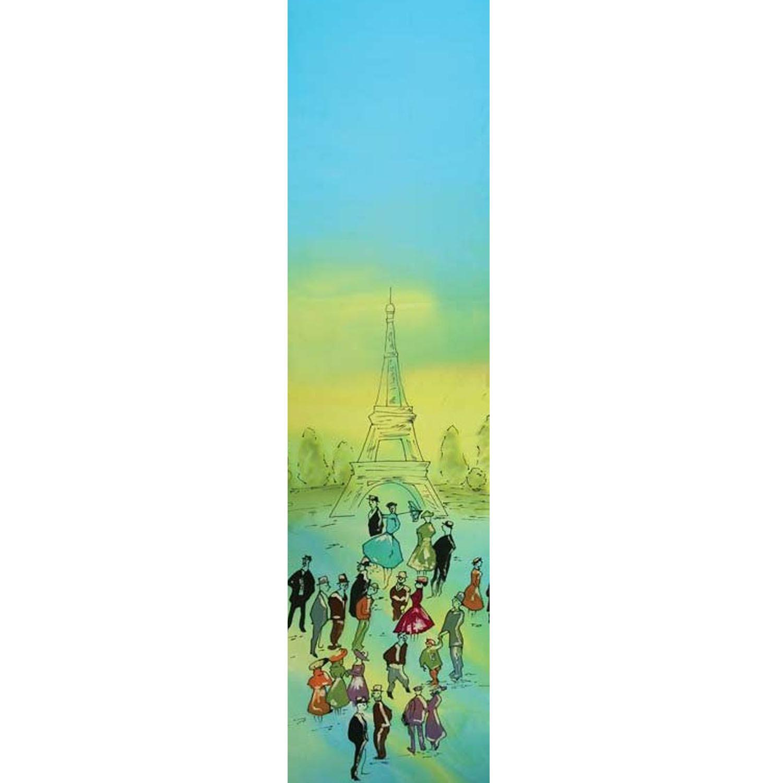 Шелковый шарф батик Парижане