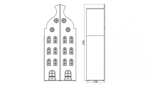 Шкаф-домик двухстворчатый-2