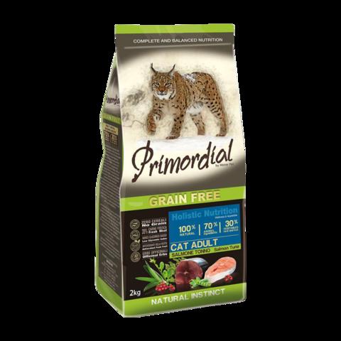Primordial Сухой корм для кошек с лососем и тунцом (беззерновой)