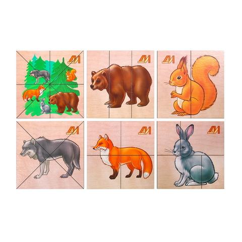 Разрезные картинки Лесные Животные