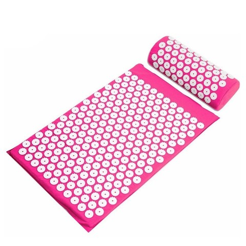 Массажный коврик Acupressure с подушкой (Малиновый)