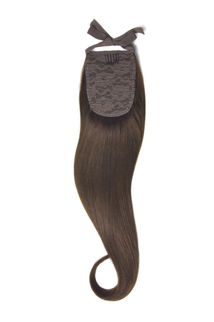 Накладной хвост на ленте тон 4 коричневый