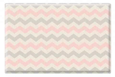 Двухсторонний коврик Pure Soft 190x130x1.2 см, Космос/Зигзаги