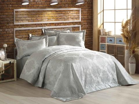Гобеленовое покрывало DO&CO 240х260 (навол. 50x70 2 шт.) DIVA цвет серый