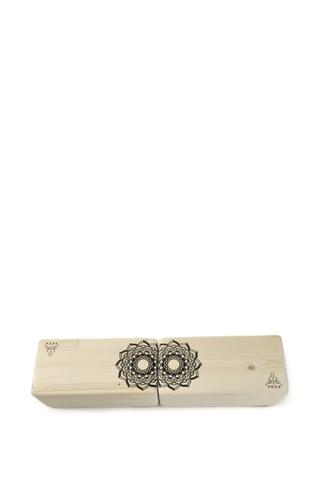 Кирпич для йоги Mandala 23*11*8 см, дерево