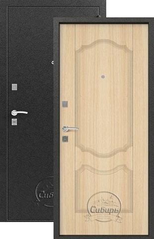 Дверь входная Сибирь S-1/1, 2 замка, 1 мм  металл, (серебро+дуб седой)