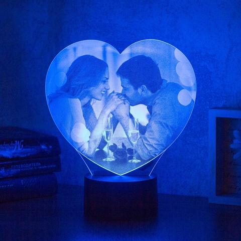 Ночник Фото-светильник в форме сердца