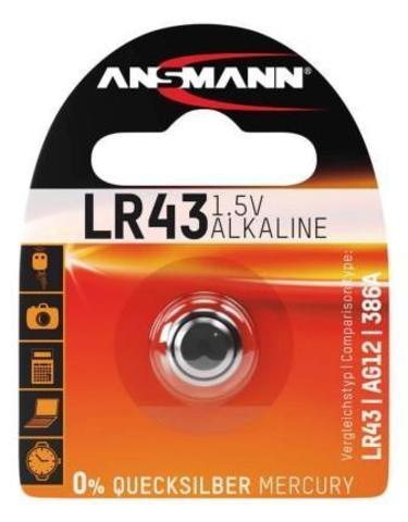 Батарейка LR43 ANSMANN 1.5V - 1шт
