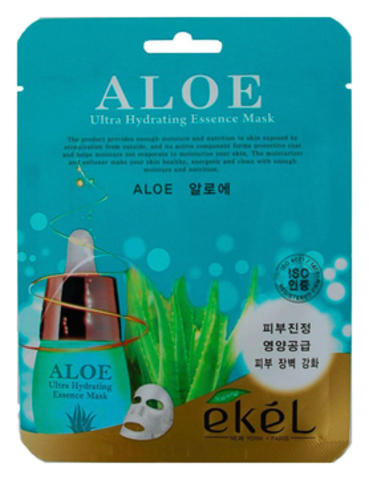ТКАНЕВАЯ МАСКА ДЛЯ ЛИЦА С ЭКСТРАКТОМ АЛОЭ ALOE ULTRA HYDRATING ESSENCE MASK 25Г