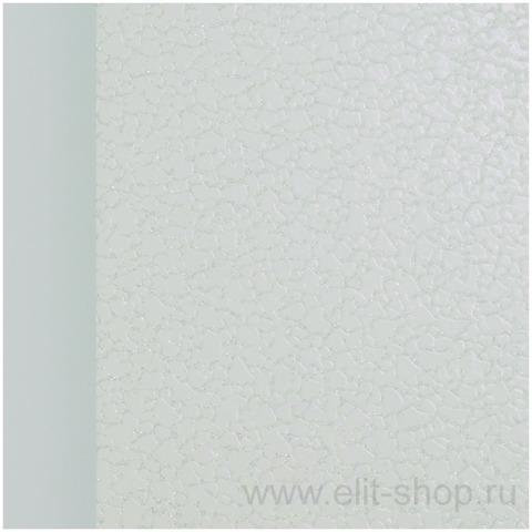 Стол ФОРЕСТ КОЖА Е-20 Белый / стекло белое / подстолье белое / опора №2 хром / 60(120)х80см
