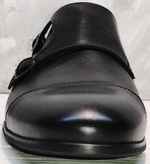 Демисезонные туфли черные мужские Ikoc 2205-1 BLC.