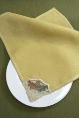 Льняная салфетка с вышивкой и мережкой