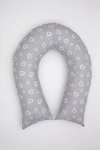 Наволочка на подушку U300 10748 сердечки серый