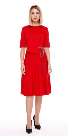 Фото красное платье приталенного силуэта с расклешенной юбкой - Платье З134-503 (1)