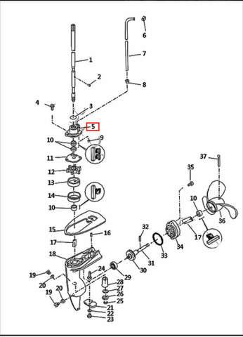 Корпус помпы  для лодочного мотора T2,5 SEA-PRO (8-5)