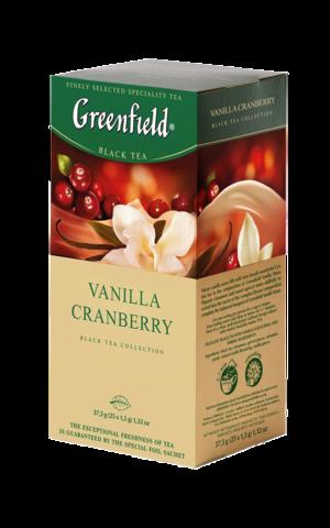 Чай черный Greenfield Vanilla Cranberry в пакетиках, 25 шт