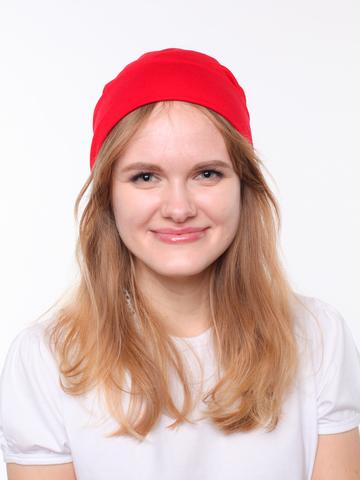 Красная шапочка бини из вискозы