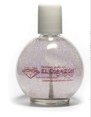 El Corazon Лак-арт-Топ  75мл   421/ 1 Silver holographic голографические серебряные блёстки