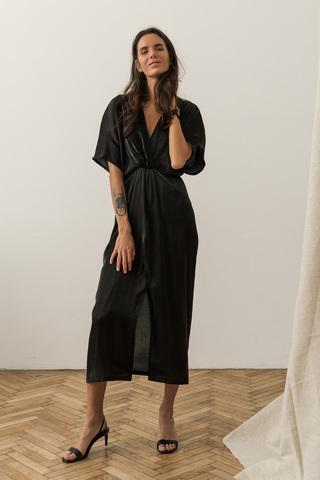 Платье-кафтан, черный
