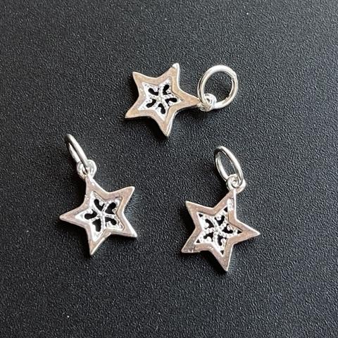 Подвеска Звезда 12 мм серебро 925 1 шт