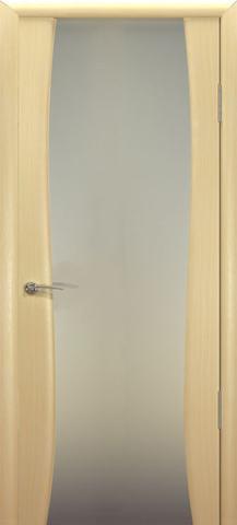 Дверь Буревестник-2 стекло белое (беленый дуб, остекленная шпонированная), фабрика Океан