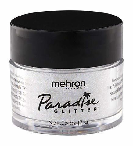 MEHRON Рассыпчатые блестки Paradise Glitter, White (Белый), 7 г