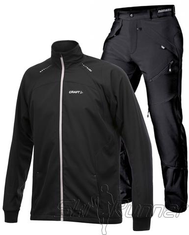 Лыжный костюм Touring Grassi Black мужской