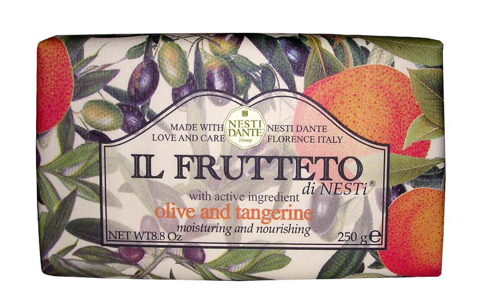 IL FRUTTETO Pure olive oil & Tangerine / Оливковое масло и мандарин мыло 250 гр