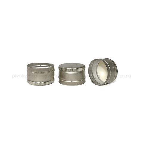 Колпачок алюминиевый винтовой 28х18 (серебро), 10 шт.