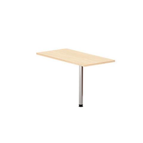 Стол приставной прямоугольный на металлической опоре МОНО-ЛЮКС