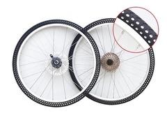 Покрышка велосипедная безвоздушная, безкамерная, антипрокольная 24x1.75