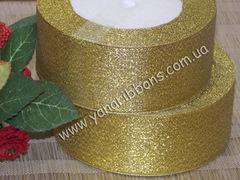 Лента парча золотая ширина 4 см