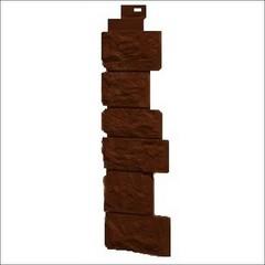 Наружный угол для фасадных панелей FineBer Камень дикий Коричневый