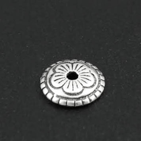 Шапочка 5 лепестков 8 мм серебро 925 1 шт
