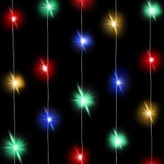 Светодиодная нить Разноцветного свечения, 3м, 30 Led