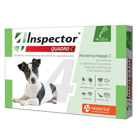 INSPEСTOR Quadro K (Инспектор) для собак 4-10 кг   1 пип.