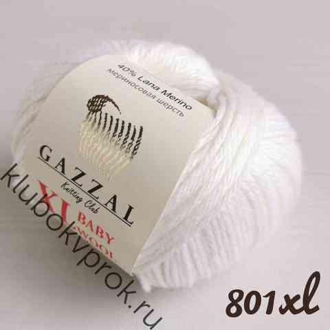 GAZZAL BABY WOOL XL 801, Белый