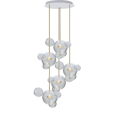 Подвесной светильник копия  Bolle by Giopato & Coombes (5 плафонов, круглый)