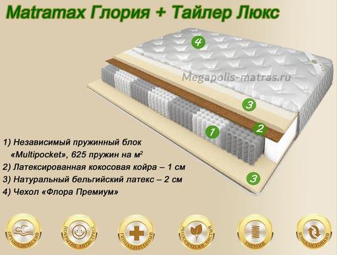 Матрас Матрамакс Глория + Тайлер Люкс купить в Москве от Megapolis-matras.ru