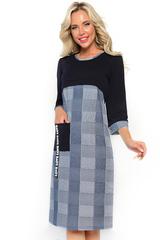 """<p>Модное платье """"Твой имидж"""" находка для настоящей модницы. Модель """"садится"""" на девушек с любым телосложением. Закрытый верх со стандартным вырезом, рукав 3/4 с манжетом, длина платья ниже колен, делают наряд пригодным в качестве офисного варианта.</p>"""