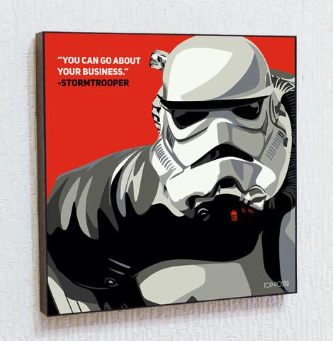 Картина постер Имперский Штурмовик в стиле ПОП-АРТ