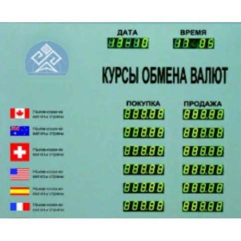Табло курсов валют Kobell TEK 12