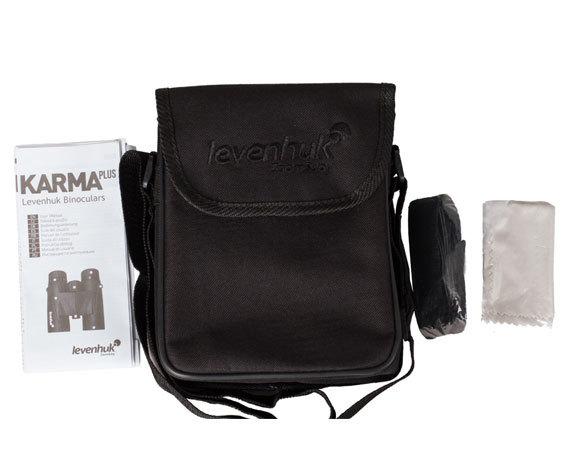 Комплект поставки бинокля Levenhuk Karma Plus 8x42