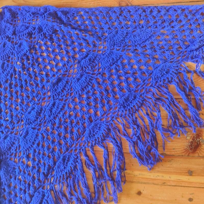Фотография Шаль синяя купить в магазине Афлора